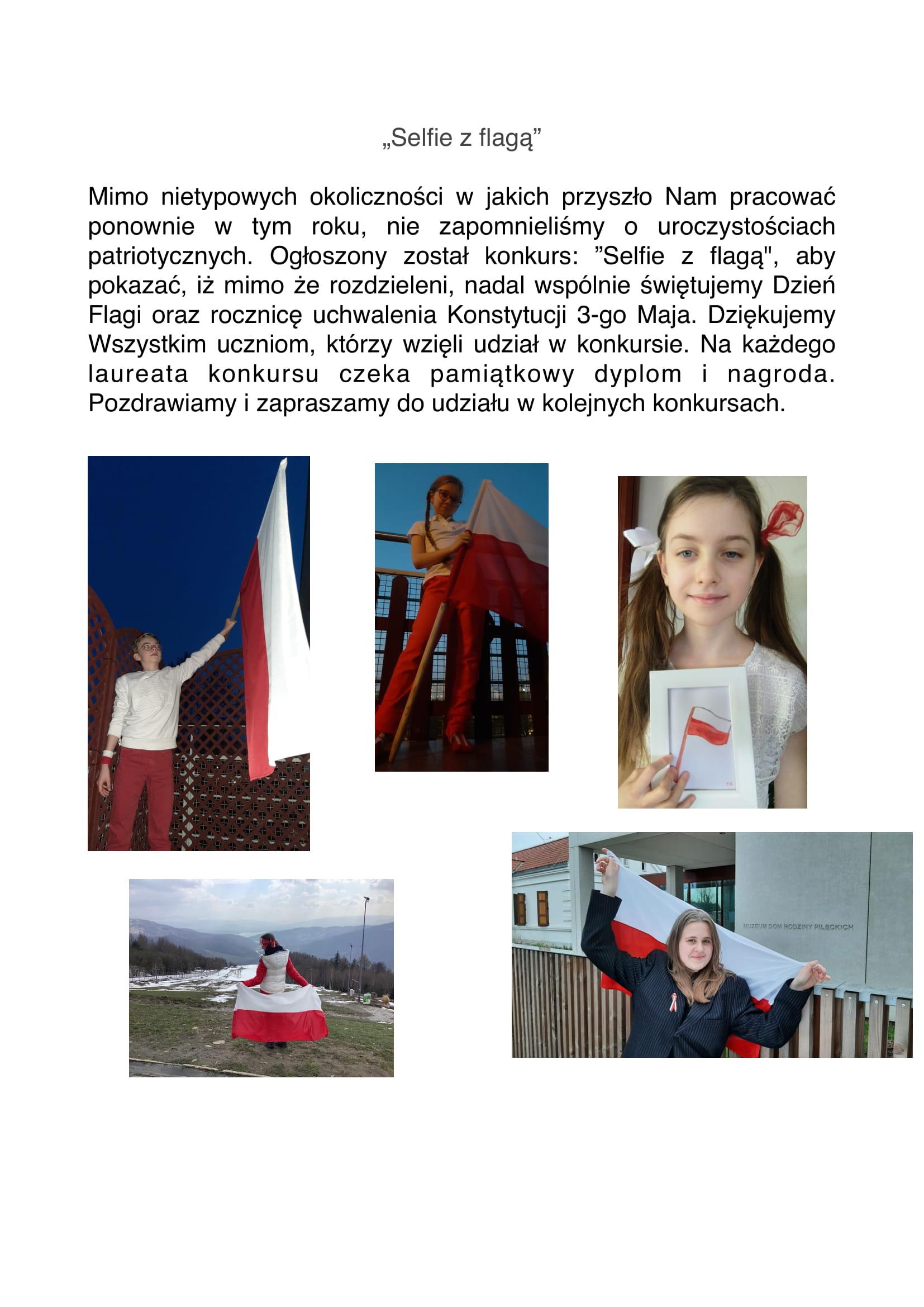 Konkurs Selfie z Flagą