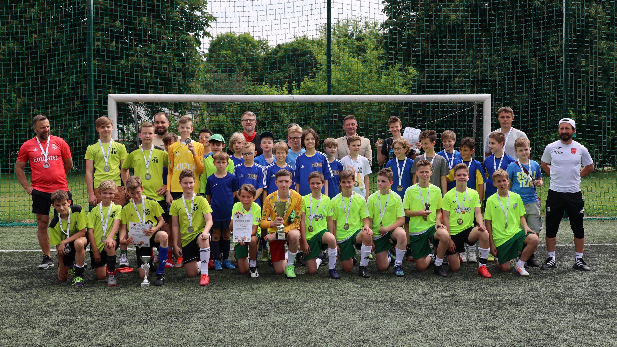 I miejsce chłopców w Mistrzostwach Mokotowa w Piłce Nożnej