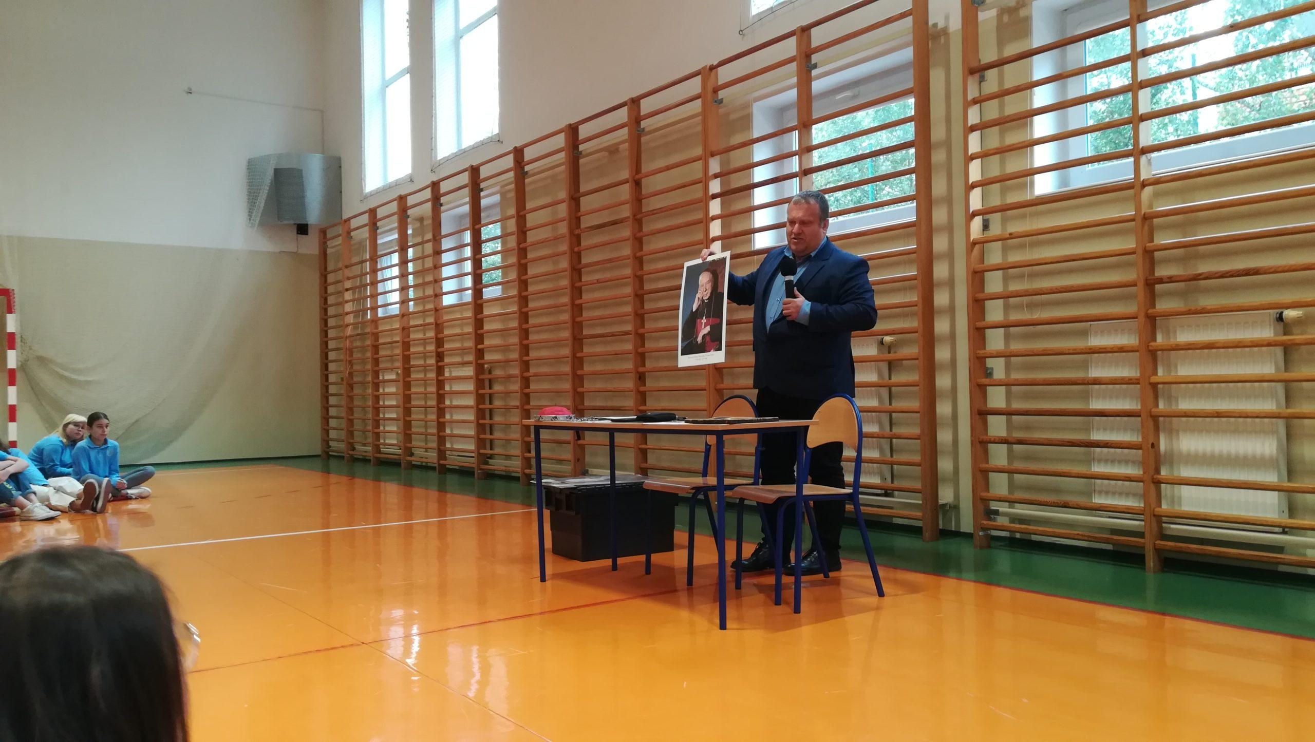 Spotkanie z p.Piotrem Kordyaszem – biografem Prymasa Tysiąclecia